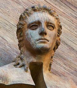 Porta della Resurrezione (particolare), Basilica di Santa Maria degli Angeli e dei Martiri, Roma